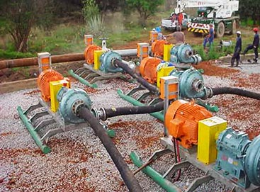 High pressure pump stations